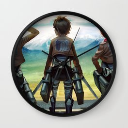 Attack on titan Wall Clock