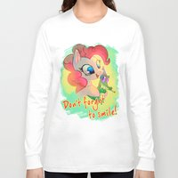 mlp Long Sleeve T-shirts featuring MLP: Don't forget to smile! by Erin Liona