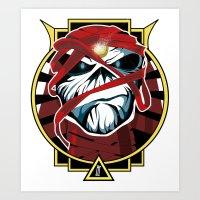 iron maiden Art Prints featuring Tribute Iron Maiden by JHC Studio