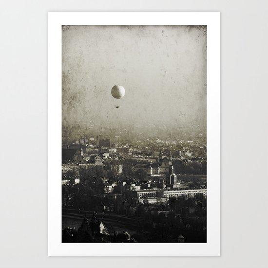 Flying Over Art Print