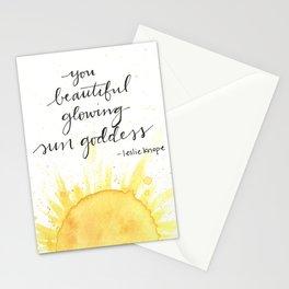 you beautiful glowing sun goddess Stationery Cards