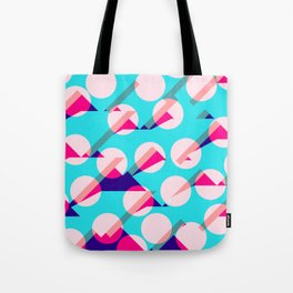 Dots and Triangles Abstract Pattern Design Art Tote Bag