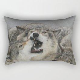 Family Squabble Rectangular Pillow