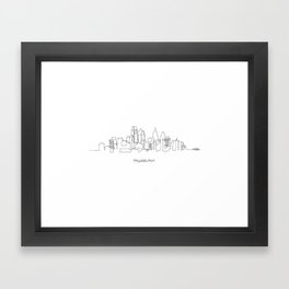 Philadelphia Skyline Drawing Framed Art Print