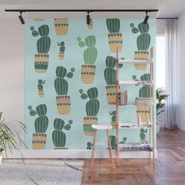 Cactus Repeat Wall Mural