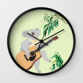 Koala Playing Guitar Wall Clock