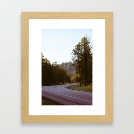 blk hlls Framed Art Print