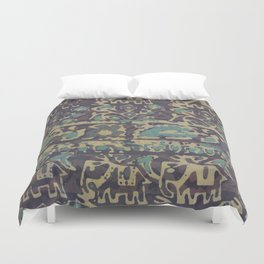Elephant Batik Duvet Cover