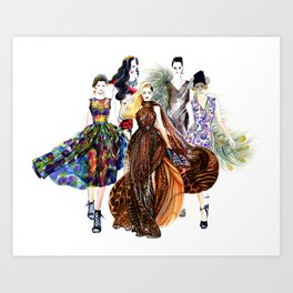 Fashion Runway Art Print