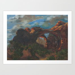 Afternoon through the Double Arch Art Print