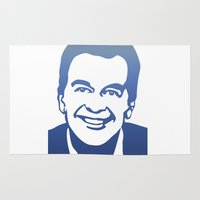 dick Area & Throw Rugs featuring Dick Clark by PSimages