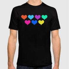 Bright hearts Mens Fitted Tee Black MEDIUM
