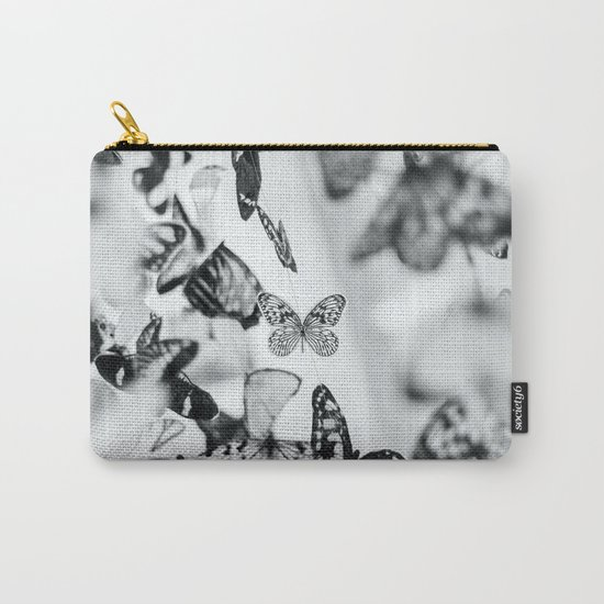 B&W Butterfly Carry-All Pouch