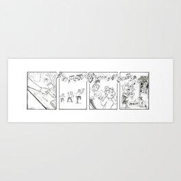 Kane and Ein 8 Art Print