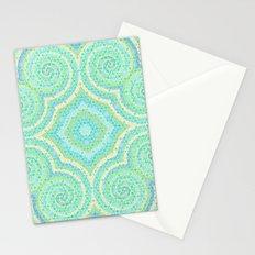 Blue pastel mandala Stationery Cards