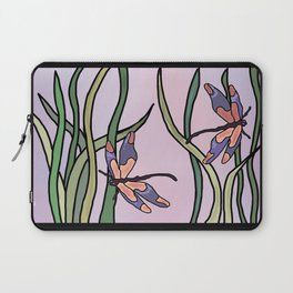 dragonflies in  a pastel color background Laptop Sleeve
