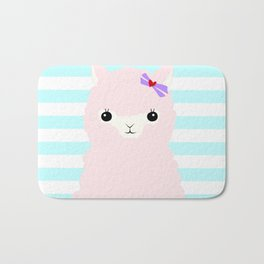 Alpaca In Love  Bath Mat