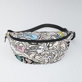 Kamasutra LOVE Doodle Closeup Color Valentine Fanny Pack