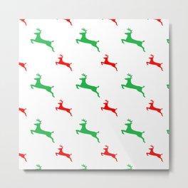Reindeer Pattern 1 Metal Print