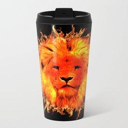 Fire Lion Metal Travel Mug