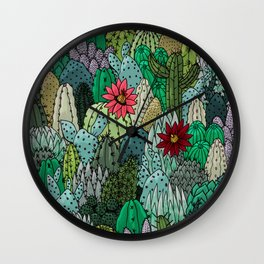 Cactus Collection Wall Clock