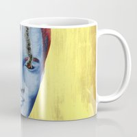 elvis Mugs featuring Elvis by FAMOUS WHEN DEAD