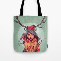 into the wild Tote Bags featuring Wild by Joifish