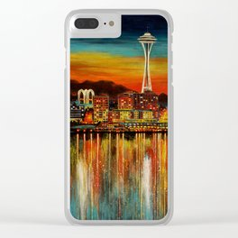 Seattle from Alki Clear iPhone Case