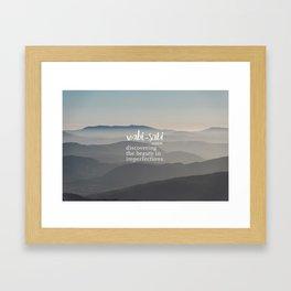 Wabi Sabi Word Nerd Definition - Mountains Framed Art Print