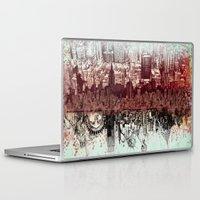 new york Laptop & iPad Skins featuring New York New York by Bekim ART