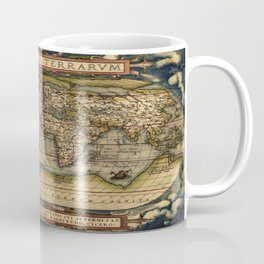 Vintage World Map - Ortelius World Map 1570 Coffee Mug