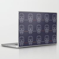 skulls Laptop & iPad Skins featuring Skulls by Hipster