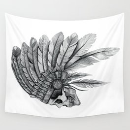 Indian Chief Skull Wall Tapestry