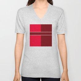 Team Color 6...maroon,red Unisex V-Neck
