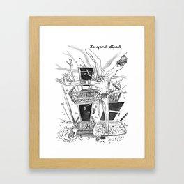 Le grand départ Framed Art Print