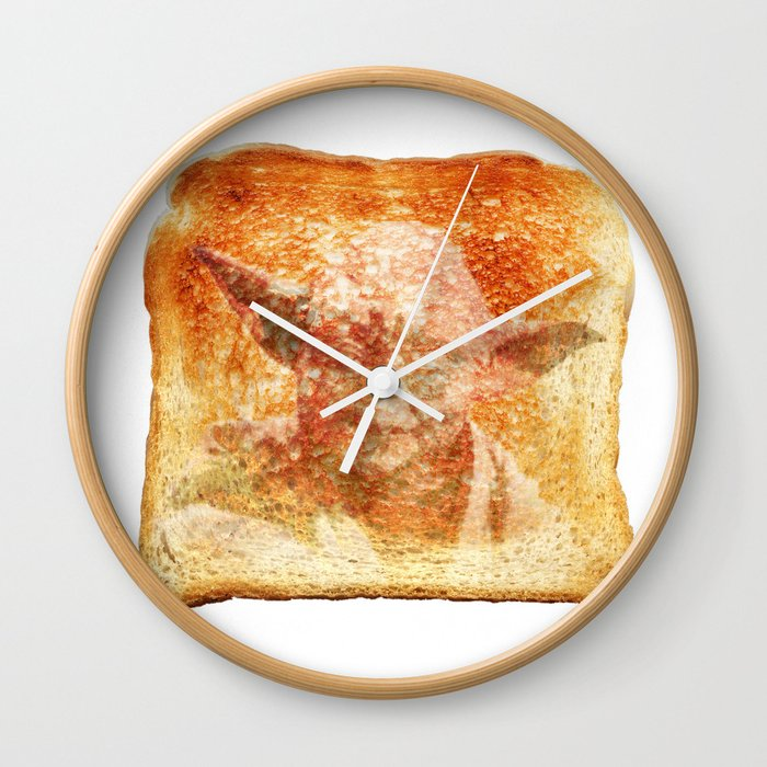 yoda toast Wall Clock