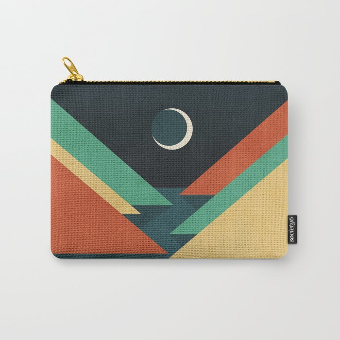 Quiet stream under crescent moon Carry-All Pouch