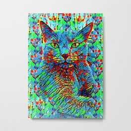 AMERA CAT POINTS PAINTING Metal Print