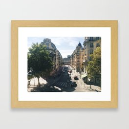 Looking Down on Paris, 12th Arrondissement Framed Art Print