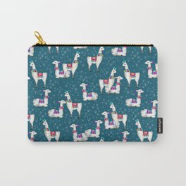 Watercolor llamas Carry-All Pouch