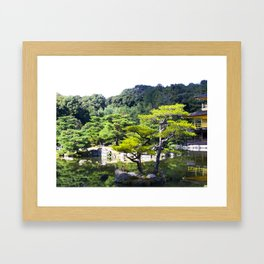 Reflections at Kinkakuji Framed Art Print