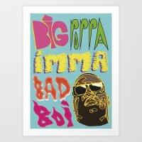 biggie smalls Art Prints featuring Biggie Smalls  by madebypinda