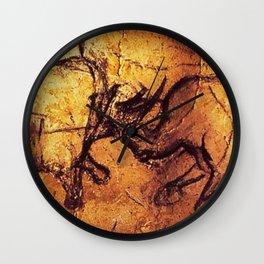Fighting Rhinos // Chauvet Cave Wall Clock