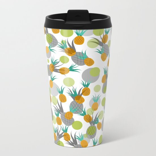 Pineapple Storm Metal Travel Mug