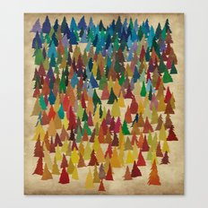 Colorful Conifers Canvas Print
