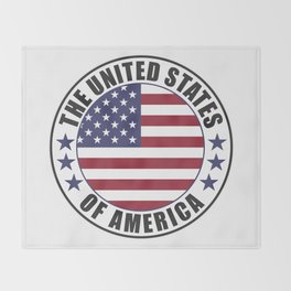 The United States of America - USA Throw Blanket