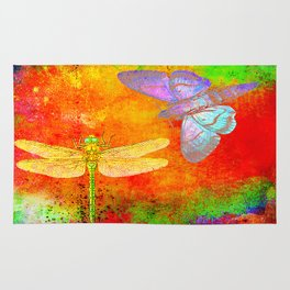 The Dragonfly and the Butterfly Rug