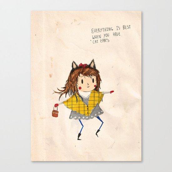 Cat ears Canvas Print