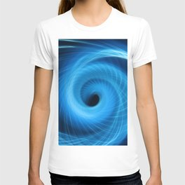 Eye Of The Storm Fiber Optic Light Painting T-shirt