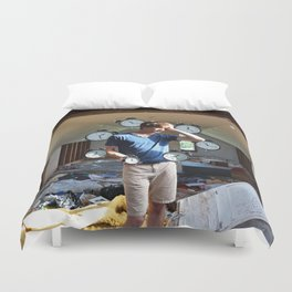 Time is Running Out Duvet Cover